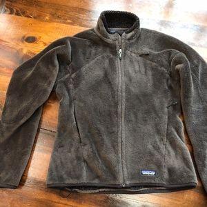 Patagonia Brown Fleece full zip jacket.  Womens M